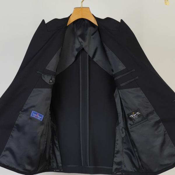 ジャケットRJ8202−濃紺無地ダブル4釦ジャケットストレッチ素材 高級メタル 銀 釦 紺ブレザー|y-souko|05