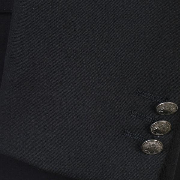 ジャケットRJ8202−濃紺無地ダブル4釦ジャケットストレッチ素材 高級メタル 銀 釦 紺ブレザー|y-souko|06