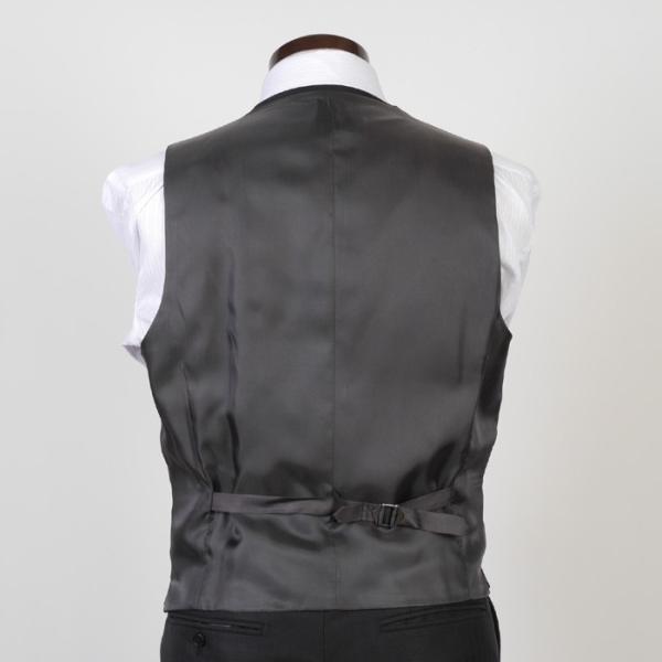 3ピース ノータック スリム ビジネススーツ メンズリバーシブルベスト 16000 RS4022|y-souko|11