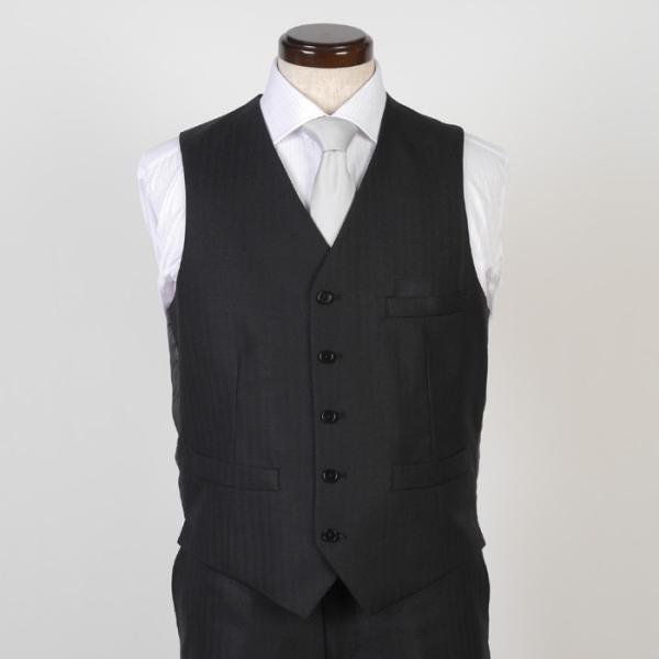 3ピース ノータック スリム ビジネススーツ メンズリバーシブルベスト 16000 RS4022|y-souko|10