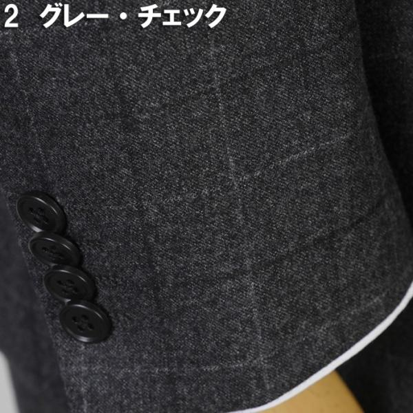 3ピース 1タック ビジネススーツ メンズウール100%素材 AB体 全5柄  チェック/ストライプ/ドット 19000 RS4108|y-souko|13