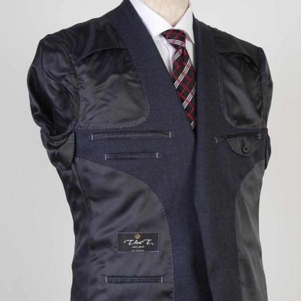 3ピース 1タック ビジネススーツ メンズウール100%素材 AB体 全5柄  チェック/ストライプ/ドット 19000 RS4108|y-souko|09