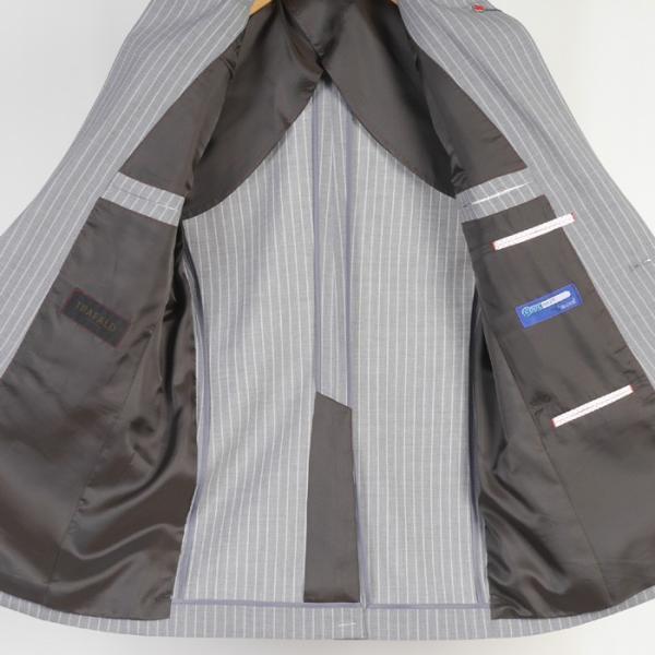 Y体  COOL MAX ノータック スリム ビジネス スーツ メンズ軽い 涼しい 型崩れに強い実用モデル 全4柄 9000 RS7005y|y-souko|05