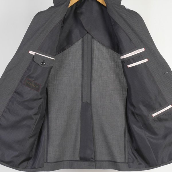 A AB BB体  COOL MAX 1タック ビジネス スーツ メンズ厳選素材を使用 実用的万能マルチポケット 11000 RS7101|y-souko|05