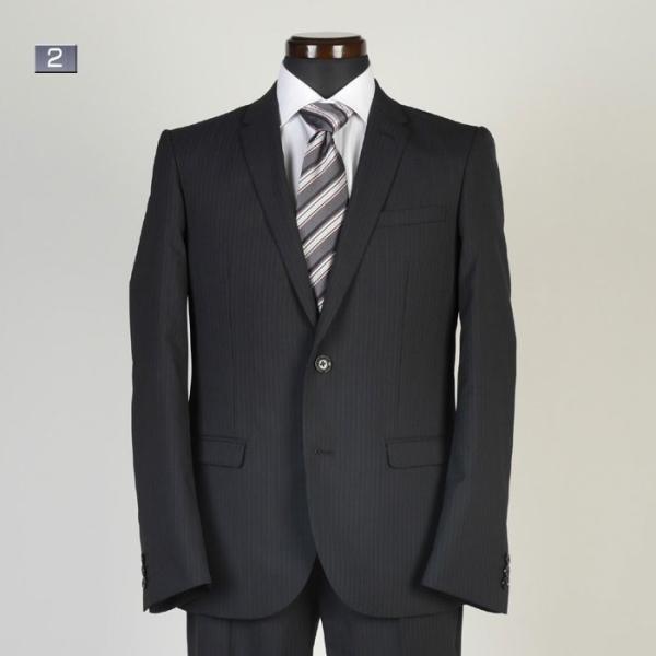 A体サイズ限定ビジネススーツメンズ 春夏ノータックナローラペル スリムスーツ全5柄 RS9002|y-souko|02
