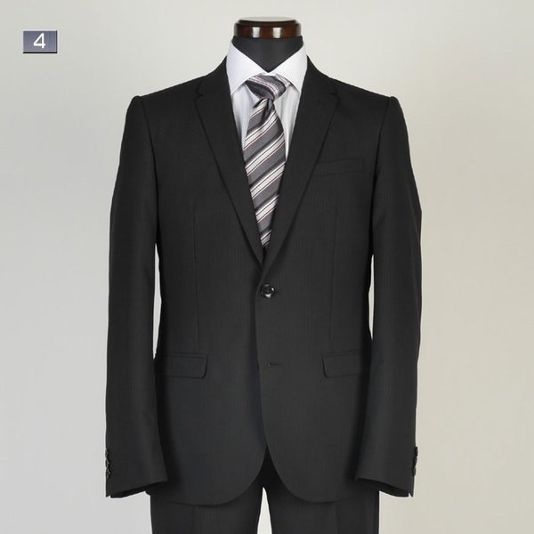 A体サイズ限定ビジネススーツメンズ 春夏ノータックナローラペル スリムスーツ全5柄 RS9002|y-souko|04