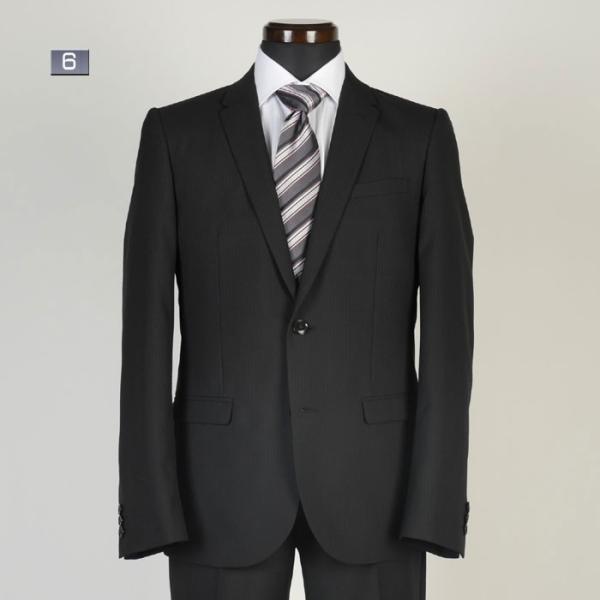 A体サイズ限定ビジネススーツメンズ 春夏ノータックナローラペル スリムスーツ全5柄 RS9002|y-souko|06