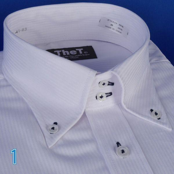 長袖ワイシャツ ドゥエボットーニボタンダウン長袖シャツ  ドビー白シャツ RY401|y-souko|03