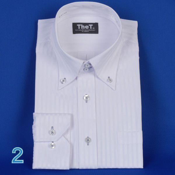 長袖ワイシャツ ドゥエボットーニボタンダウン長袖シャツ  ドビー白シャツ RY401|y-souko|05