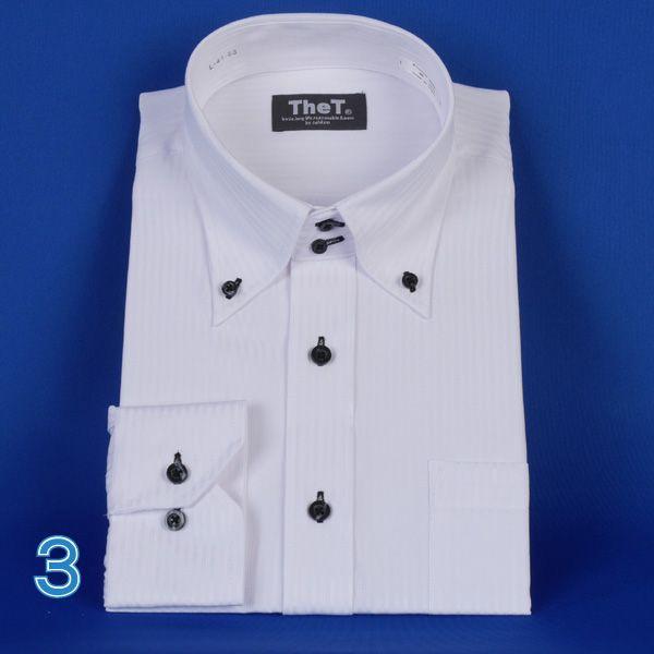 長袖ワイシャツ ドゥエボットーニボタンダウン長袖シャツ  ドビー白シャツ RY401|y-souko|06