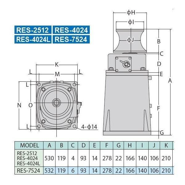 アンカー 工進 電動 RES4024 24V RES-4024 イカール ウインチ