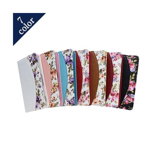 iphone7 Plus ケース Apple スマホケース 手帳型 横型 縦型 吸盤タイプ 花柄 エレガント カバー ポケット付き 保護フィルム付 y-sumasuta