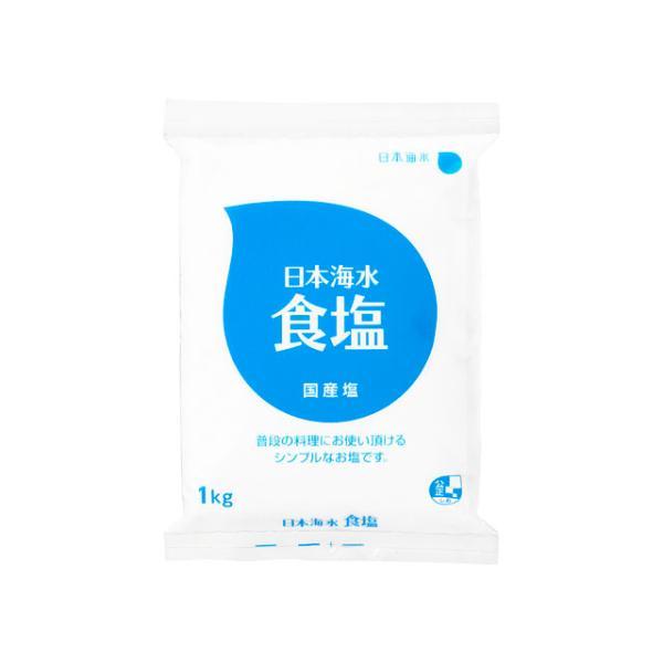 日本海水 食塩 1Kg x6 *