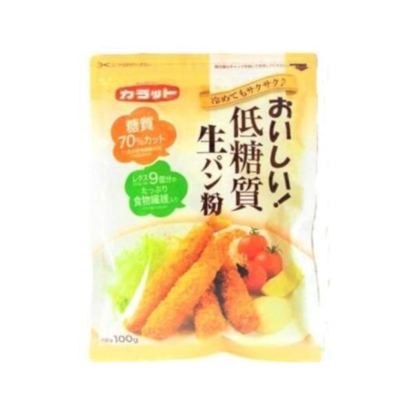 大川 カラット おいしい低糖質生パン粉 100g x15 *