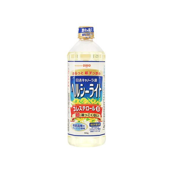 日清オイリオ キャノーラ油ヘルシーライト ペット 900g x8 *