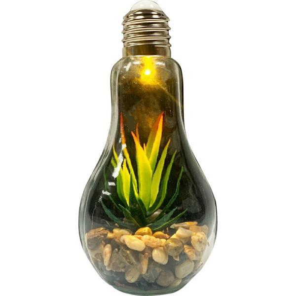 電球型インテリアテーブルライト テラリウム 飾り物 置物 オブジェ ミニチュア インテリア 北欧 おしゃれ モダン アーバン かっこいい ア