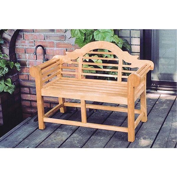 ミニ貴族ベンチ ガーデンベンチ 完成品 長椅子 庭 屋外用 木製 かわいい ガーデンファニチャー エクステリア キッズ カワイイ おしゃれ 子供