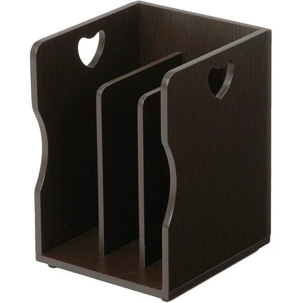 4個セット ブックスタンド スタッキングA4サイズ 本棚 本棚 マガジンラック 本立て上収納 本立て ブックエンドMM-7205DBR