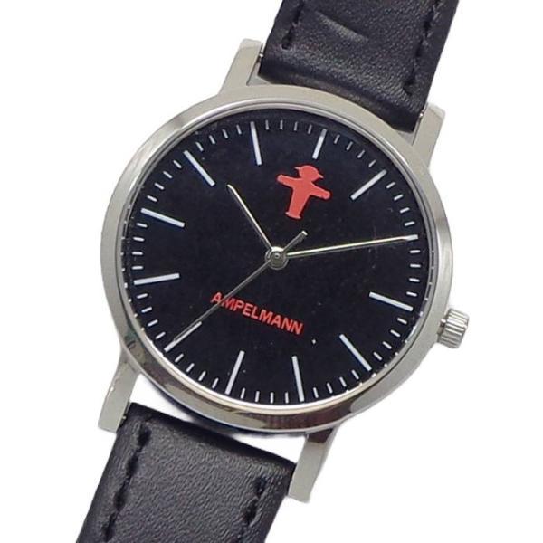 腕時計レディスアンペルマン腕時計メンズレディスキッズウォッチAFB2043クォーツ3針革ドイツ信号機止まれ進め三頭身ピクトグラム