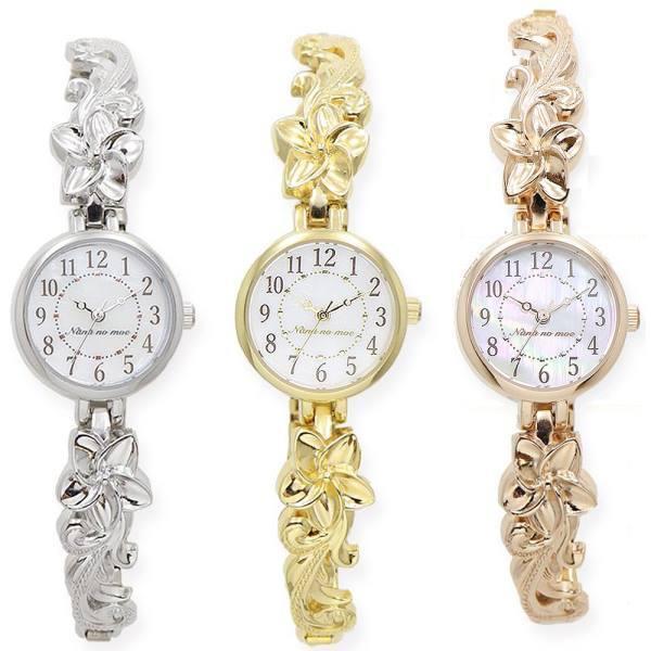 ハワイアンジュエリーウォッチASS137ハワジュプルメジャバラレディス腕時計日本製ムーブ使用レディース腕時計おしゃれかわいい軽量
