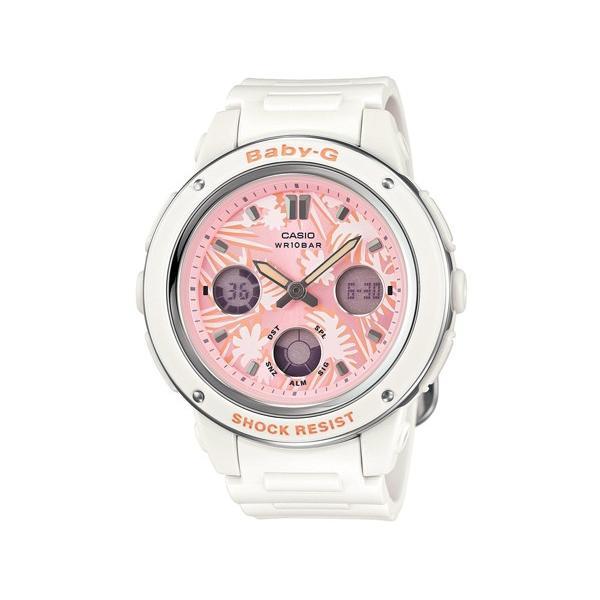 CASIOカシオBaby-GBGA-150F-7Aフラワーダイアルシリーズアナデジレディス腕時計レディースベビージーホワイト