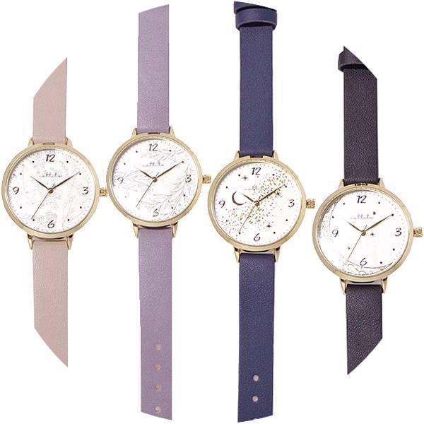 腕時計レディス紫外線で絵柄が変わるリーフ革ウォッチFSC165ポスト投函腕時計レディス日本製ムーブ使用シンプルかわいい花植物小鳥