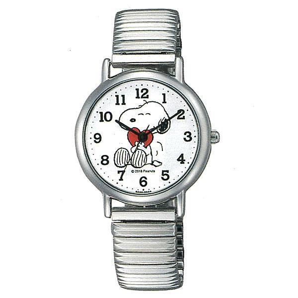 スヌーピーグッズ腕時計ウォッチジャバラエクスパンションP001-204シルバーメタルバントピーナッツキャラクターかわいい時計レデ