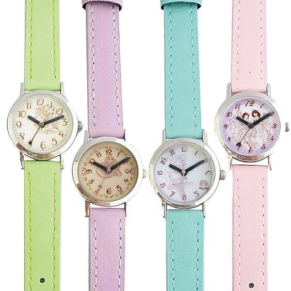プリンセス皮ベルト腕時計ウォッチキッズレディスウォッチポスト投函PR1Princessキャラクターライセンス腕時計ディズニー子供