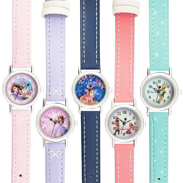 プリンセス皮ベルト腕時計ウォッチキッズレディスウォッチポスト投函PR2Princessキャラクターライセンス腕時計ディズニー子供