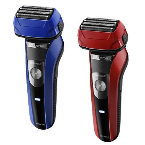 シェーバー 日立 4枚刃 ひげ剃り RMH-F470B 往復式シェーバー エスブレード 水洗い可 シェービングフォーム 泡剃り 5時間充電 3Dヘッド 防水構造 携帯
