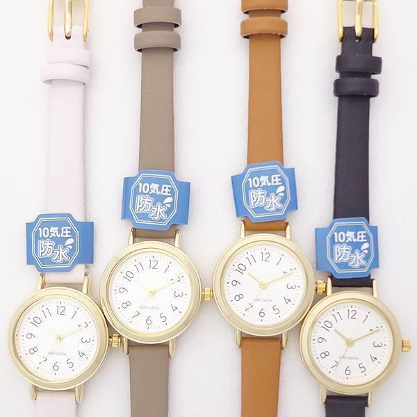 レディス腕時計10気圧防水革ベルトST246ウォータープルーフレディス腕時計レディース日本製ムーブ使用シンプル見やすいかわいい使