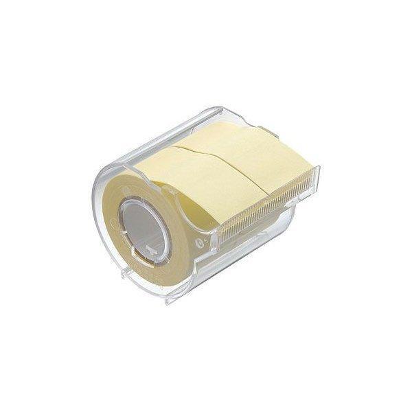 ロール付箋 ヤマト メモックロールテープ再生紙  再生紙+蛍光紙 25mm幅 カッター付き 2巻入 R-25CH 付箋 フセン 手帳 インデックス