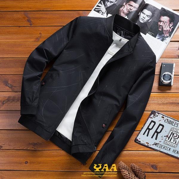 トラックジャケット メンズ ジャケット はおり ジャンパー きれいめ ブルゾン ライトアウター メンズジャケット スリム 40代 50代 秋服 秋|yaa|07