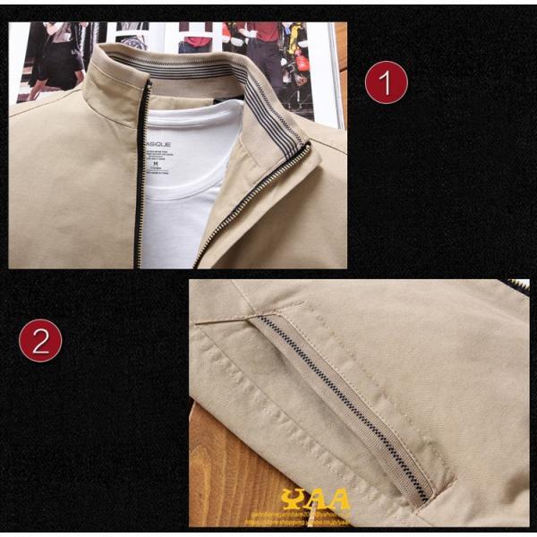 ブルゾン メンズ ジャケット はおり ジャンパー ミリタリージャケット トラックジャケット 40代 50代 60代 秋冬 ファッション|yaa|11