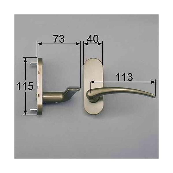 トステム LIXIL TOSTEM FNMB369 スタンダードAタイプ把手(空錠)