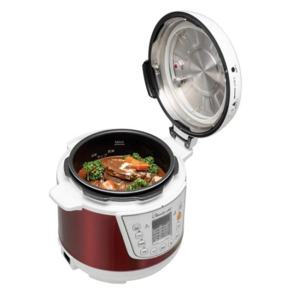 電気圧力鍋 ワンダーシェフ マイコン電気圧力鍋 3L OEDC30 R1 圧力鍋|yakanya|02
