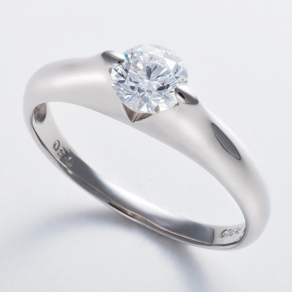 プラチナPt900 0.5ct Dカラー・IFクラス・EXカットダイヤリング 指輪(GIA鑑定書付き) 17号お買得品