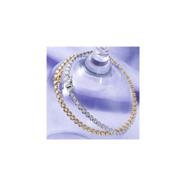 K18 1CTダイヤモンドテニスブレスレット WG(ホワイトゴールド)お買得品