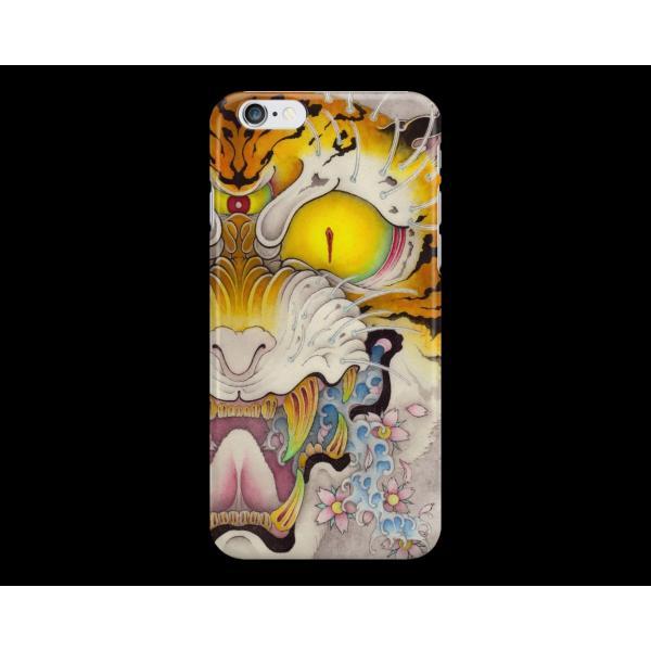 和柄iPhoneケース『虎面図 雲と波と桜』波版 iPhone7 / 6s / 6 用|yakudo-engine|02