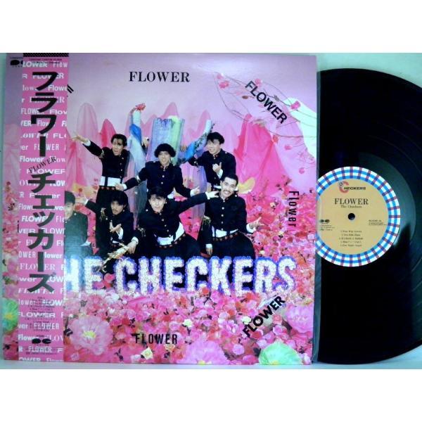 ←【検聴合格】↑針飛無安心レコード】1986年・超美盤! 帯付・チェッカーズ「フラワー FLOWER」1|yakusekien|02