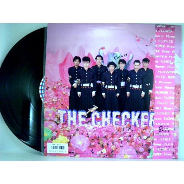 ←【検聴合格】↑針飛無安心レコード】1986年・超美盤! 帯付・チェッカーズ「フラワー FLOWER」1|yakusekien|03