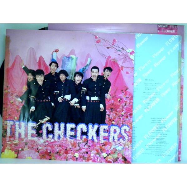 ←【検聴合格】↑針飛無安心レコード】1986年・超美盤! 帯付・チェッカーズ「フラワー FLOWER」1|yakusekien|06