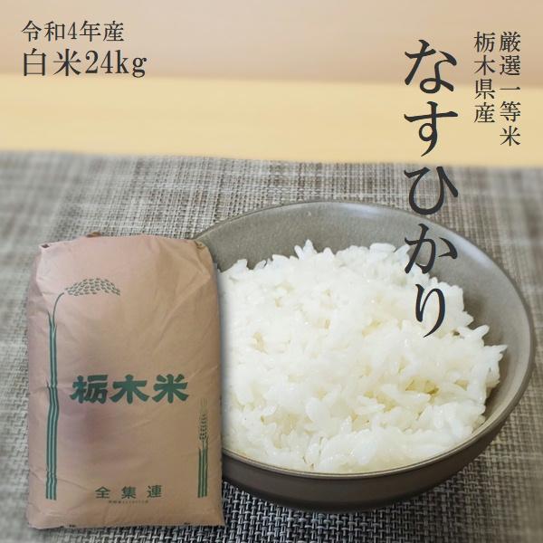 新米 お米 24kg 栃木県 白米 一等米 なすひかり 平成30年産 送料無料 14時までのご注文で当日出荷|yama-kome