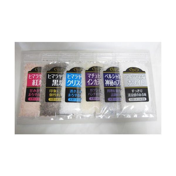 世界の天然塩 お試し&詰め替え&ご自宅用 パック入り各80g ※メール便対応可