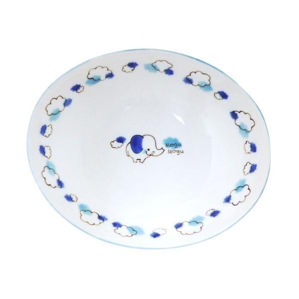 子供用カレー・パスタ皿 もぐもぐぞう ブルー アニマル こども用食器