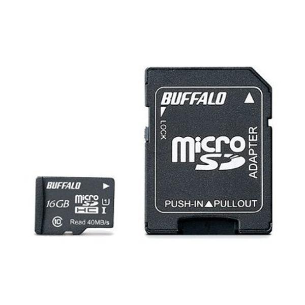 バッファロー RMSDY016U1SA UHS-I Class1 microSDカード SD変換アダプター付 16GB yamada-denki