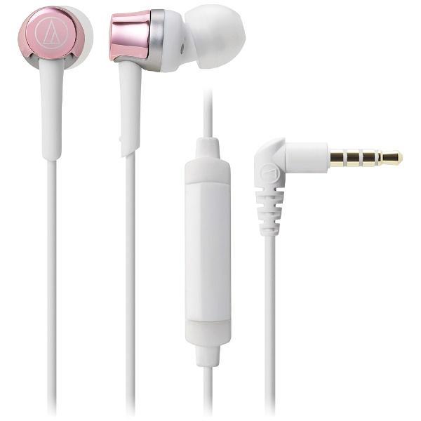 オーディオテクニカ スマートフォン専用ヘッドホン ATH-CKR30iS PK ピンクの画像