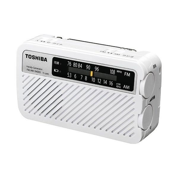 東芝 TY-JKR5-W 手回し充電ワイドFMラジオ ホワイト|yamada-denki