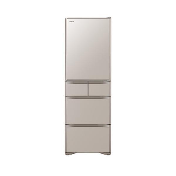 日立 冷蔵庫 R-S40JL(XN) クリスタルシャンパン 左開き 内容量:401リットルの画像
