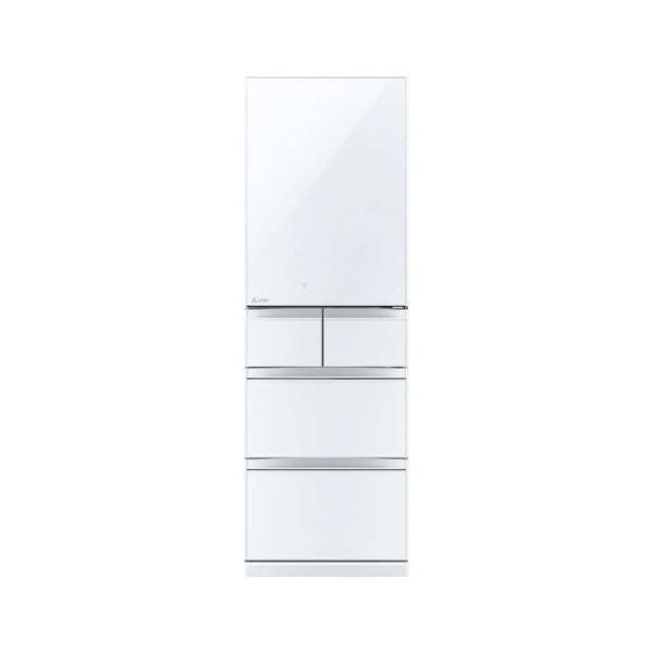 三菱 MR-B46DL-W 5ドア冷蔵庫(455L・左開き) クリスタルピュアホワイト